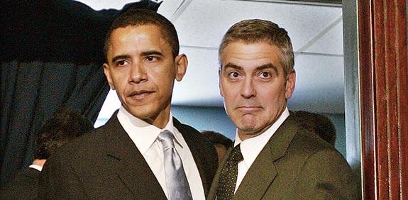 ג'ורג' קלוני, ברק אובמה / צלם: רויטרס